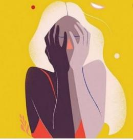 Ilustrasi si stay positive yang malah menjadi toxic positivity. Sumber gambar: popbela.com