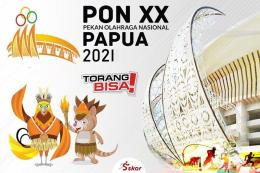 Ilustrasi logo PON Papua: skor.id