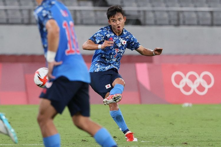 Takefusa Kubo, pemain Real Madrid asal Jepang. | Sumber: AFP/Mariko Ishizuka via Kompas.com