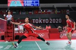 pasangan ganda Mohammad Ahsan/Hendra Setiawan kini jadi harapan Indonseia untuk menjaga tradisi emas olimpiade. Sumber gambar kompas.com