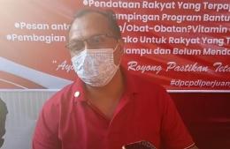 H. Mustofa, SH (Ketua Fraksi PDI Perjuangan DPRD Kab. Cirebon) saat sampaikan dukungannya terhadap kebijakan Partai untuk penanganan Covid-19.