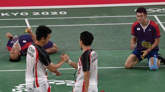 Mohammad Ahsan/Hendra Setiawan pada laga melawan Lee Yang/Wang Chi Lin,sumber gambar ; cnnindonesia.com