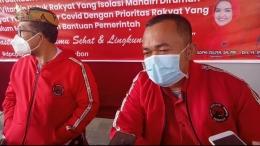Rudiana, SE Bendahara DPC yang juga Wakil Ketua DPRD Kab. Cirebon siap donasikan gajinya (doc.foto Infokom)