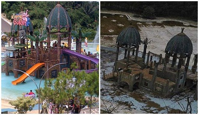 perbandingan salah satu tempat travel yang dulunya hits dengan yang sekarang. (sumber: boombastis.com)