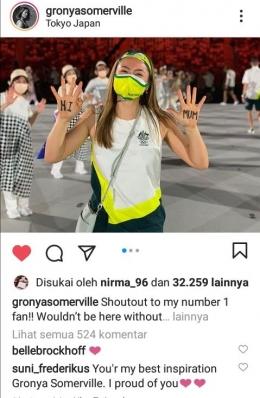 Hasil Screenshot dari instagram@Gronyasomerville