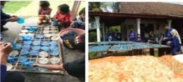 Situasi pembuatan kerupuk Samiler khas Desa Sukolilo (Dokpri)