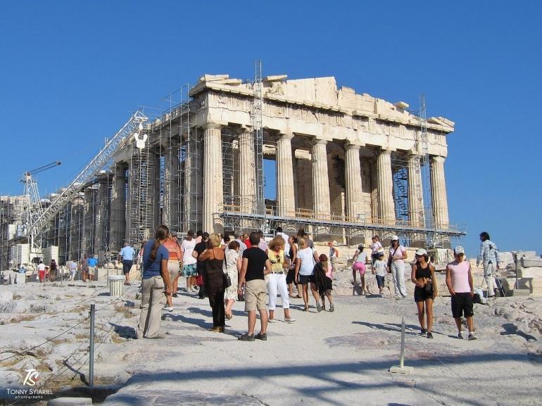 Kuil Parthenon- Acropolis, Athena. Sumber: dokumentasi pribadi