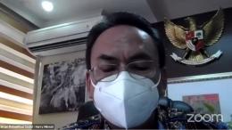 Pemaparan materi oleh Dirjen Rehabilitasi Sosial, Harry Hikmat. (Dok. Pribadi)