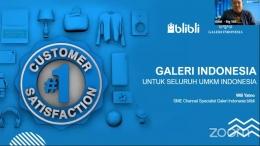 Pemaparan materi oleh SME Channel Specialist Galeri Indonesia Blibli, Wili Yatno. (Dok. Pribadi)
