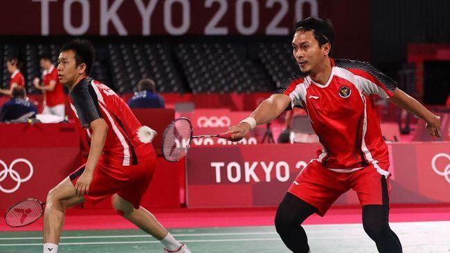 Ganda Putra Indonesia, Hendra Setiawan/Mohammad Ahsan akan tampil di babak semifinal sore nanti/Foto: REUTERS/HAMAD I MOHAMMED