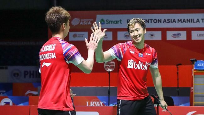 Ganda putra kebanggaan Indonesia The Minions (Foto Badmintonindonesia.org)