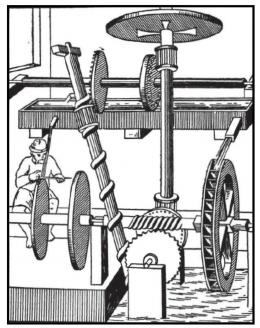 Desain kuno dari mesin