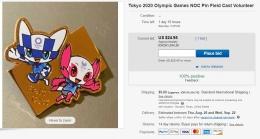 Sebuah pin untuk volunteer2 itu, dijual die bay seharga Rp.391.600! Astagaaaa, mahal sekali | ebay.com