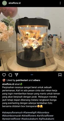Gambar 2. Instagram Aloeflora.id (Dokpri, screenshot IG aloeflora.id)
