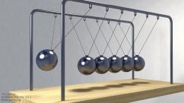 Pendulum Newton. Sumber: www.artstation.com