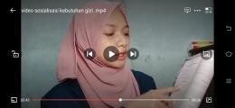 Video yang dibagikan (dokpri)