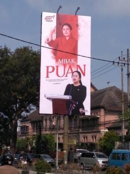 Illustrasi baliho Puan Maharani (Foto: liputan6.com/Dian Kurniawan)