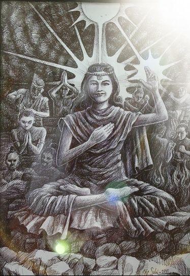 Semburat Putih Pelangi Kasih (Lukisan Bp.Y.P.Sukiyanto)