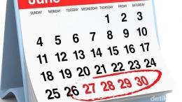 Ilustrasi rentetan tanggal merah bertepatan dengan tanggal gajian, sumber: Fuad Hasim/detikcom
