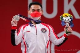 Eko Yuli Irawan Peraih Medali Perak Olimpiade Tokyo 2020 - Sumber : kompas.com