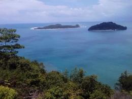 Dokpri.pandangan suasana laut dari atas puncak gunung Geurutee (Barat-Selatan) Aceh. Kabupaten Aceh Jaya.