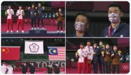 Sejumlah momen penyerahan medali ganda putra Olimpiade Tokyo: https://twitter.com/BadmintonTalk