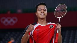 Tunggal putra Indonesia, Anthony Sinisuka Ginting. Foto: sport.tempo.co