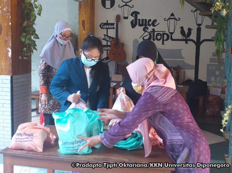 Partisipasi mahasiswa dalam salah satu program kegiatan rutin warga/dokpri