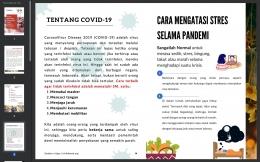 3.1 Tampilan e-handbook Peran Dukungan Keluarga Mengatasi Stres selama Pandemi. Dapat diakses melalui link berikut: https://bit.ly/Handbooksaktidiory/Dokpri