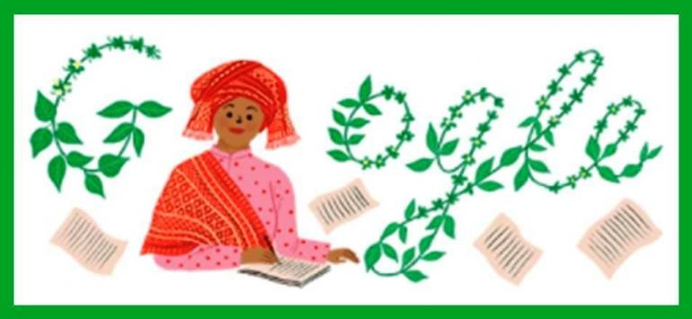 Kearifan Selasih Seleguri Indonesia - Bundo Sariamin Ismail (Tangkapan Layar Google Doodle 31 Juli 2021)