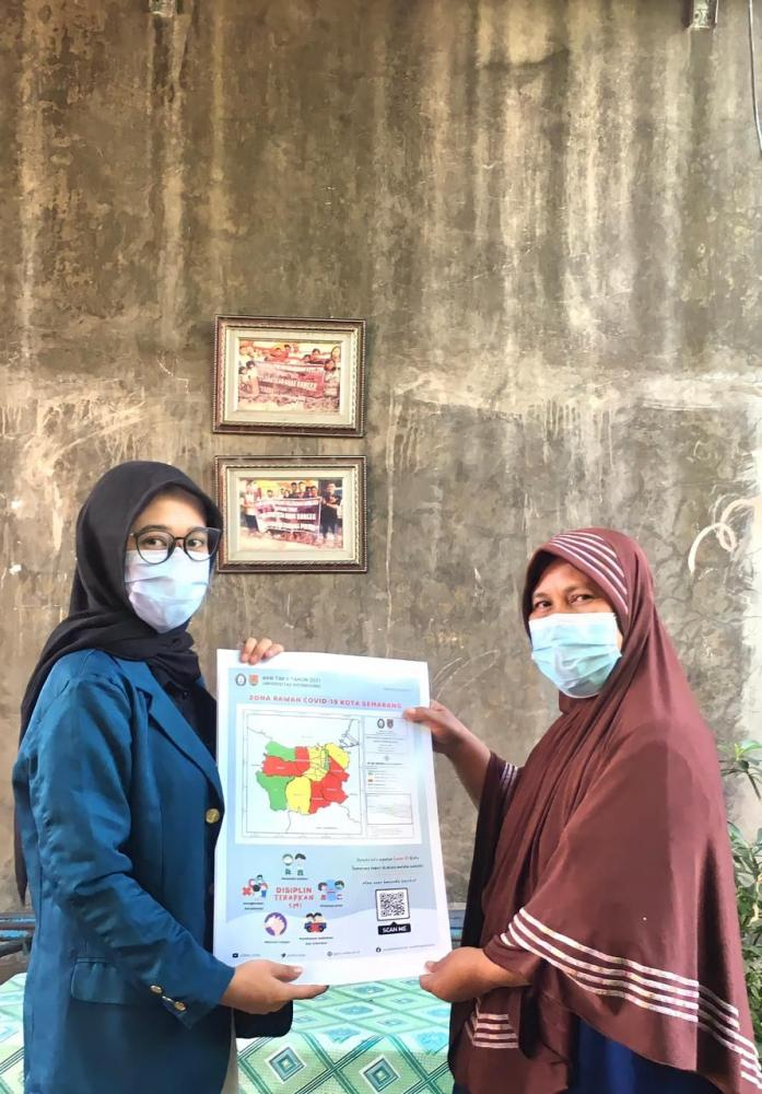 Perijinan untuk menempelkan poster kepada Ketua RT/dokpri
