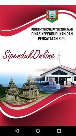 Tangkapan Layar Aplikasi Layanan Dinas Kependudukan dan Catatan Sipil Kabupaten Semarang - Sumber : Dokumen Pribadi