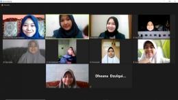 Pelaksanaan Miniwebinar series zoom meeting(Dok. pribadi)