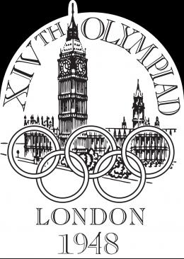 Logo Olimpiade London 1948. Sumber: IOC /wikimedia