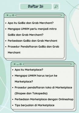 Daftar Isi dari Buku Saku Panduan Pendaftaran Aplikasi Mitra/Dokpri