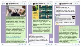 Dokpri/Pembagian video dan leaflet, serta sesi tanya jawab melalui whatsapp group