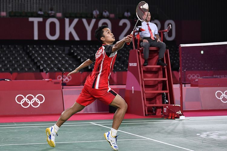Anthony Ginting Dikalahkan Chen Long di Semifinal Olimpiade Tokyo 2020I Gambar : ANTARA via Kompas.com