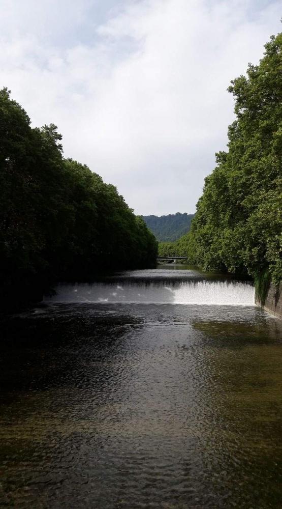 Sungai Sihl yang hijau di tengah kota Zuerich/Dokpri
