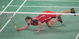 Gregoria Mariska jatuh bangun menghadapi Intanon: AP Photo