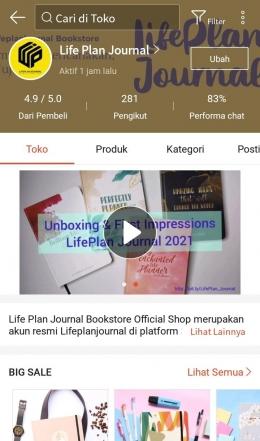 Akun Shopee UMK Lifeplanjournal