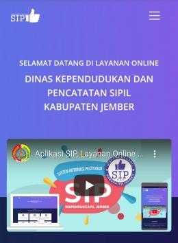 Ilustrasi : tangkapan layar sipdispendukcapil.id