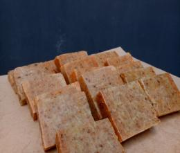 Produk Sabun Kulit Jeruk yang Siap dibungkus setelah proses pendiaman selama 2 minggu/Dokpri
