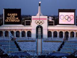 Olimpiade Los Angeles 1984. Sumber: Getty / www.history.com