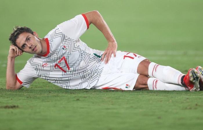Sebastian Cordova (Meksiko) bergaya setelah mencetak gol (Gambar: today.in-24.com)