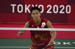 Kento Momota, andalan utama Jepang yang gagal bersinar di Olimpiade Tokyo 2020 (AFP/ kompas.com)