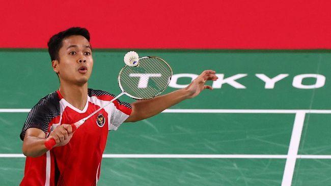 Tunggal putra Indonesia, Anthony Ginting mendapat pelajaran penting dari semifinal bulutangkis Olimpiade 2020/Foto: Reuters/Leonhard Foeger