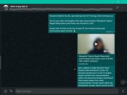 Penyebaran Link Video di WhatsApp Group