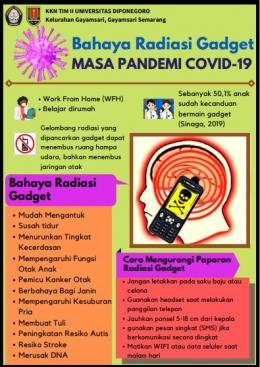 Poster Bahaya Radiasi Gadget