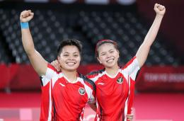 Ganda putri Greysia Polii dan Apriyani Rahayu finalis Olimpiade Tokyo 2020 (Foto BWFbadminton.com)