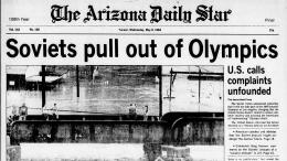 Berita Soviet mengundurkan diri dari LA 1984. Sumber: Today in History / twitter.com